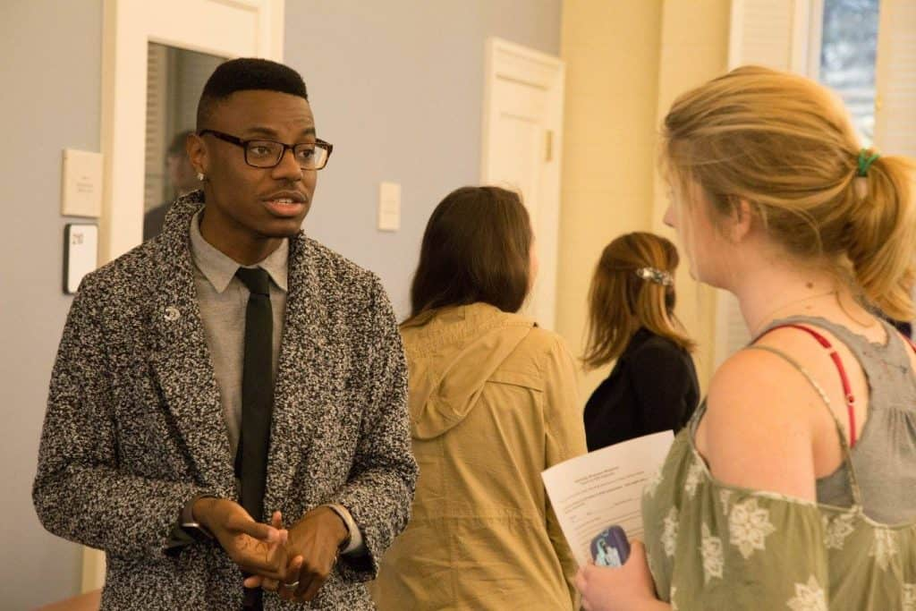 WPU students at networking event.
