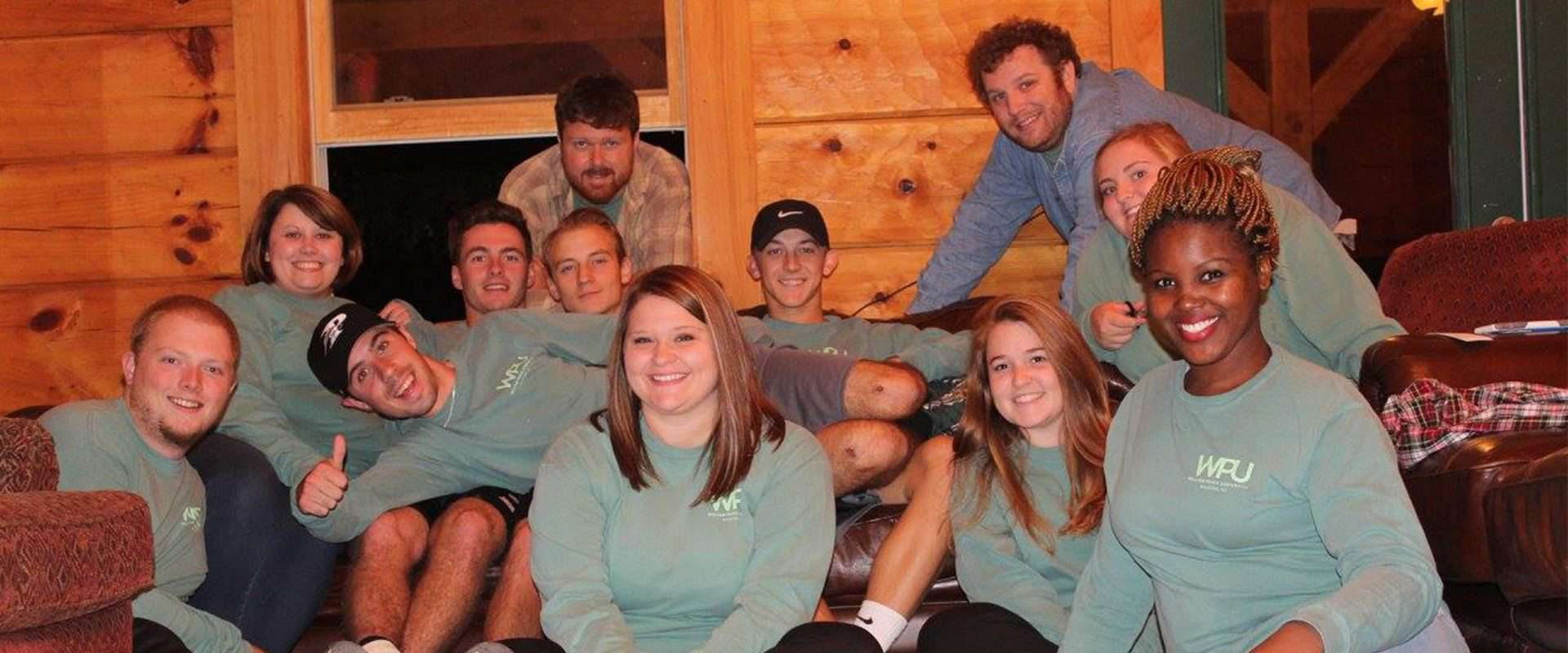 WPU students on a community service trip in the NC mountains.