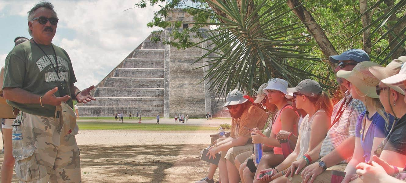 WPU students on a Study abroad trip in Mexico.