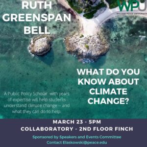 Bell IG Post Image 300x300 - Climate Expert Ruth Greenspan Bell to Visit WPU for Climate Change Talk
