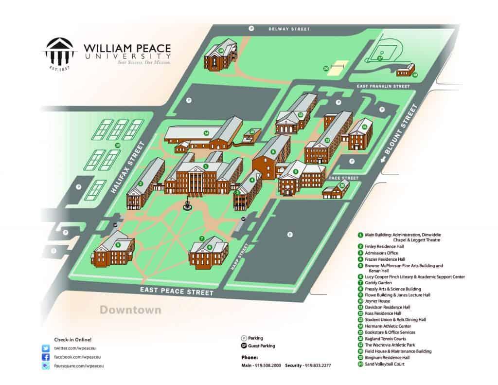 WPU Campus Map