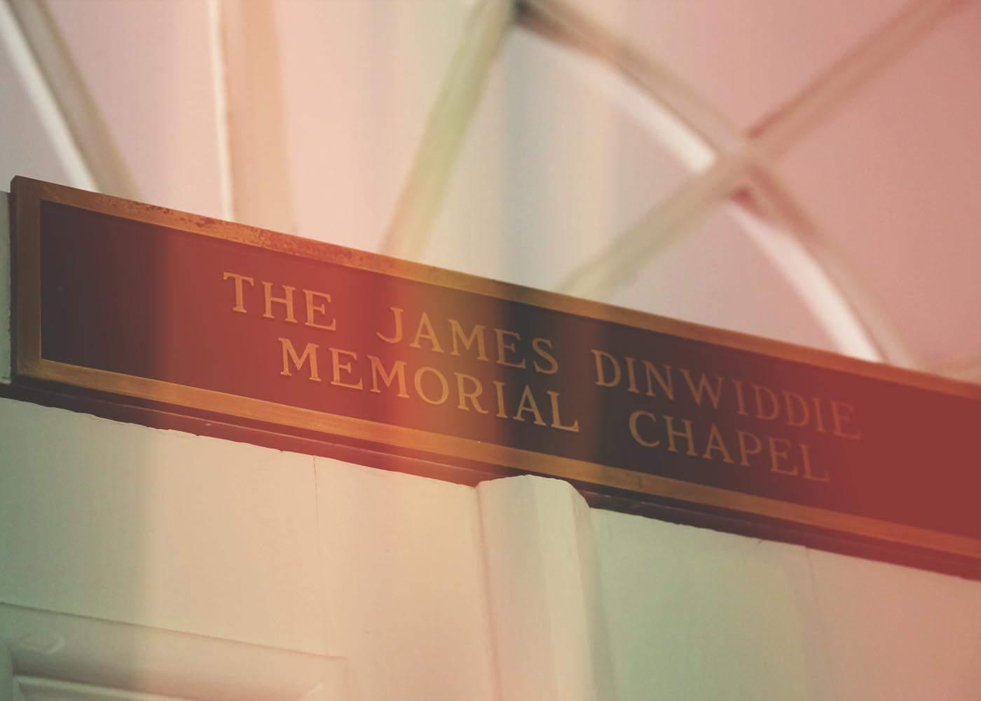 Dinwiddie Chapel on campus.