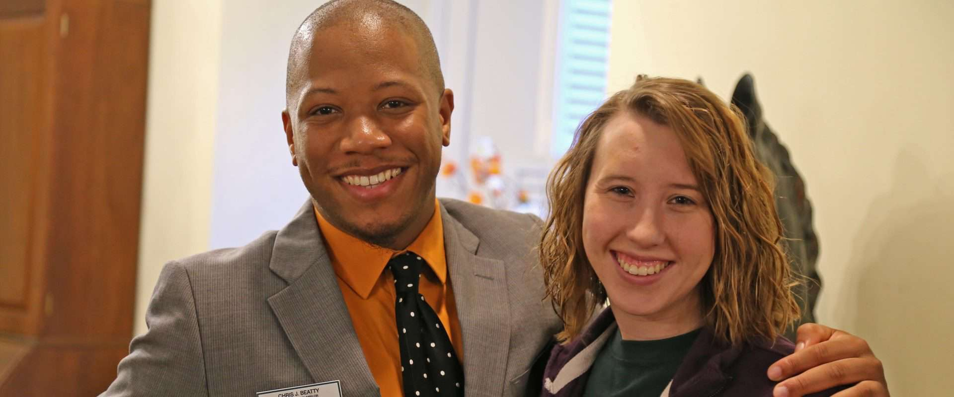WPU counselor and student.