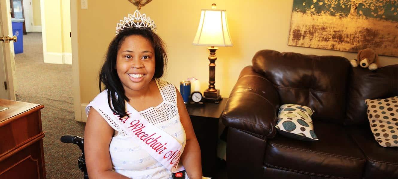 WPU Alumna Deja Barber wins Ms. Wheelchair NC.
