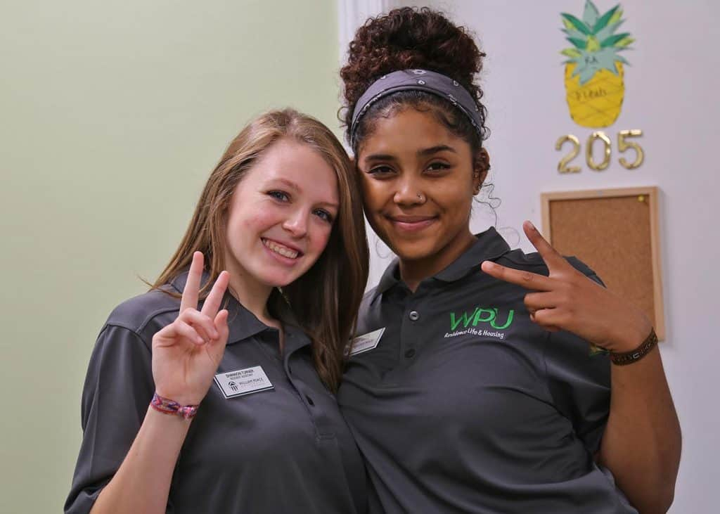 WPU Students on Move-In Day