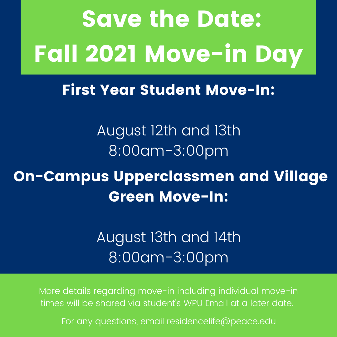Fall 2021 Move-in Day