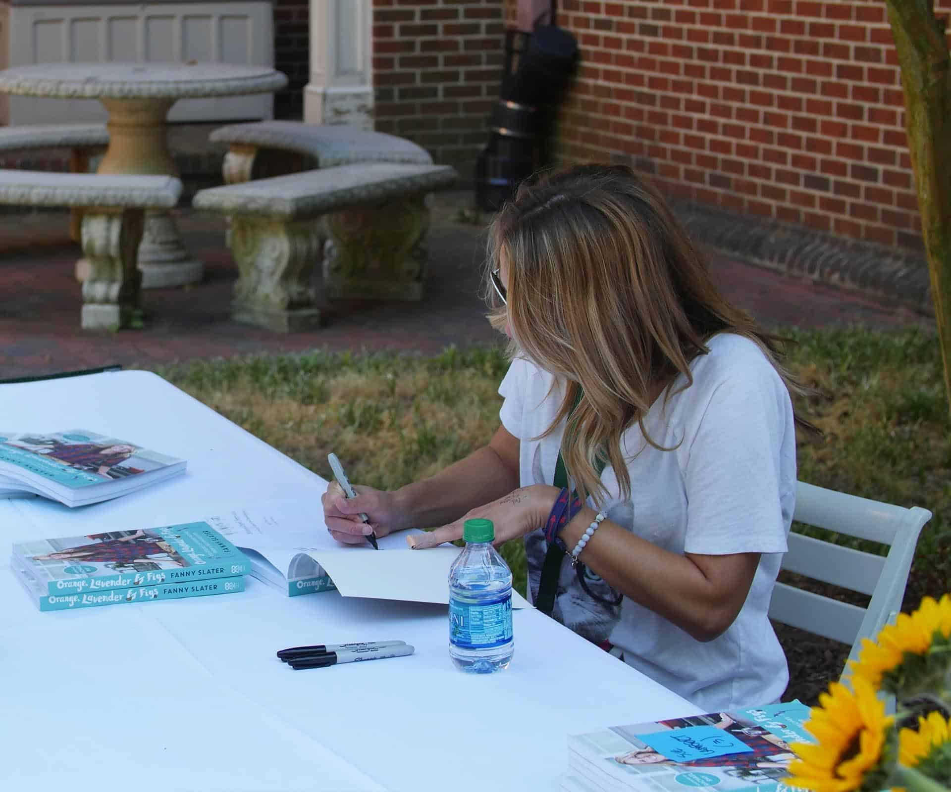 Alumna Fanny Slater returns to campus to promote her cookbook.