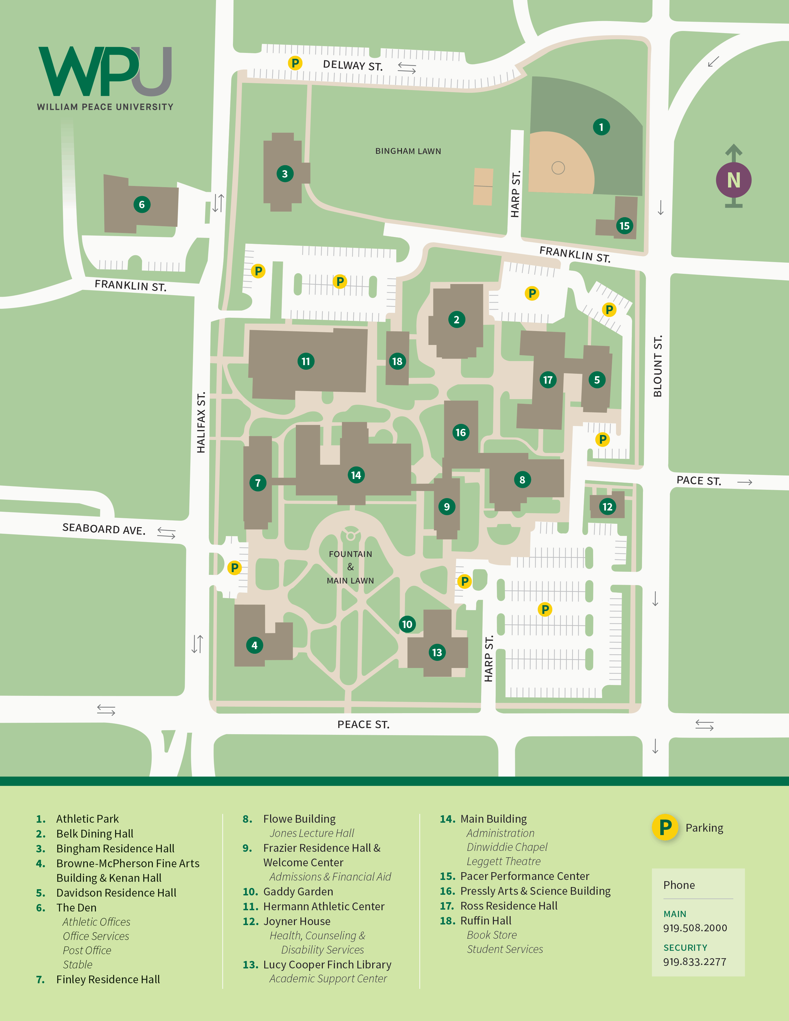 Pace Campus Map