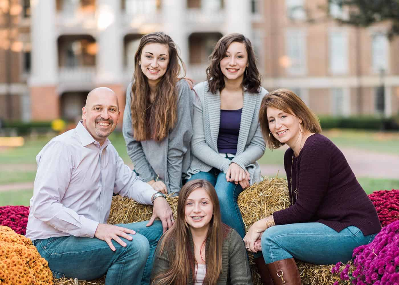WPU president Dr. Brian Ralph pictured with his wife and three daughters.