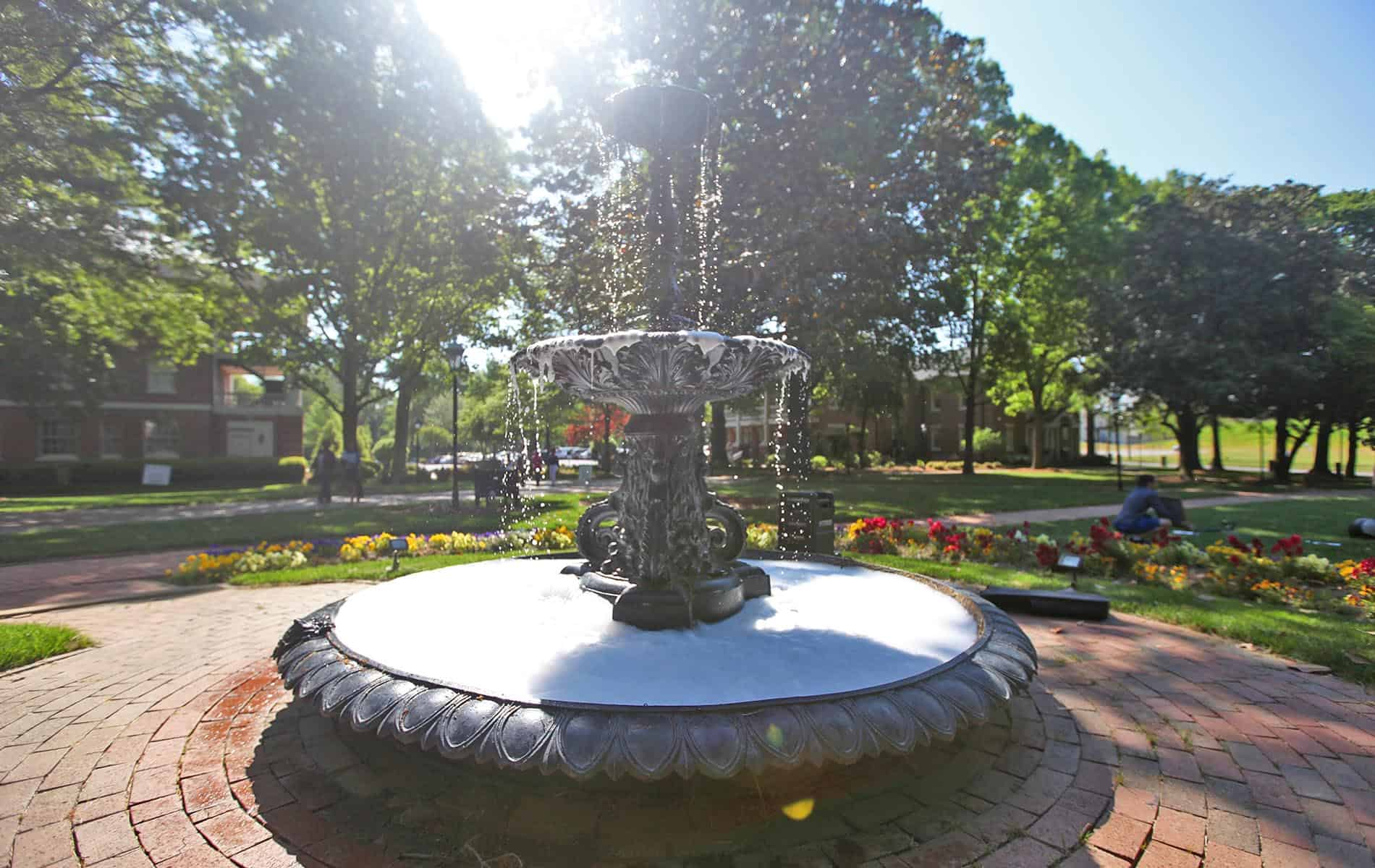 Fountain on Main Lawn