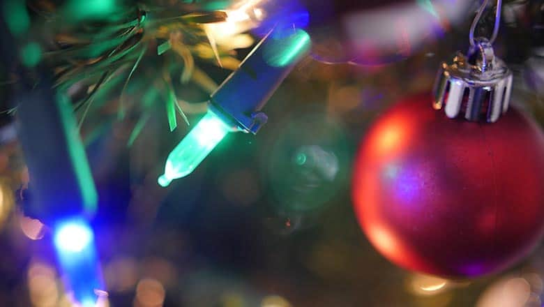 Image of Christmas lights.