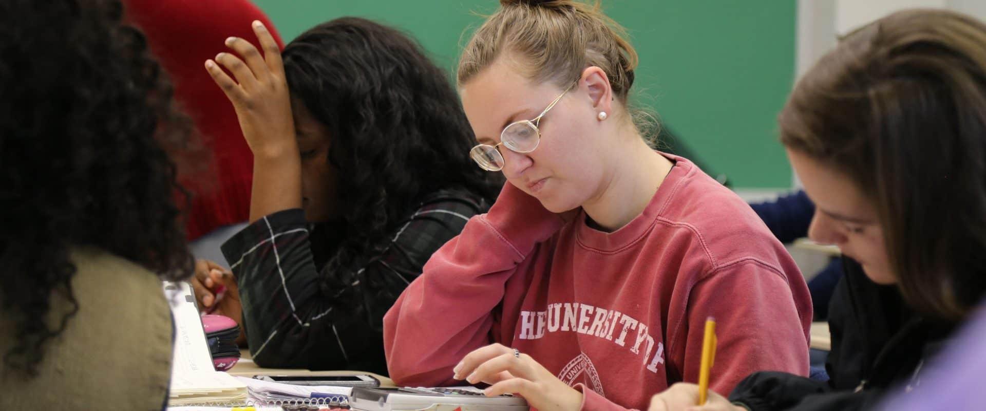 WPU Student in class.