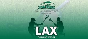 William Peace University Adds NCAA Men's and Women's Lacrosse