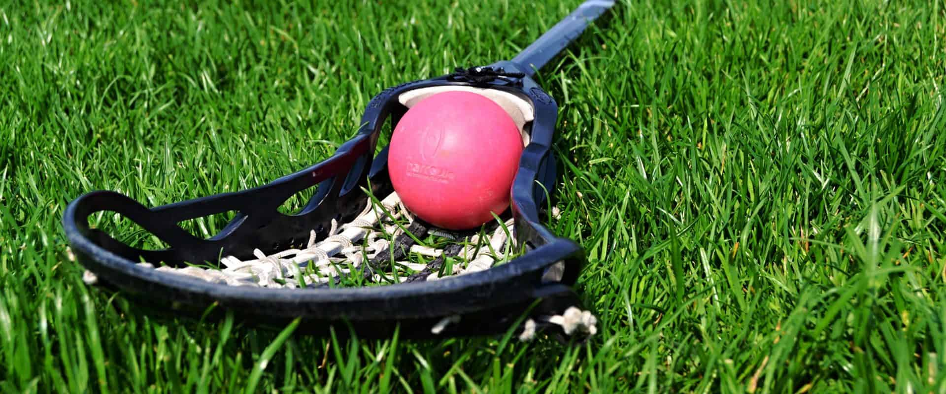 Lacrosse stick and ball.