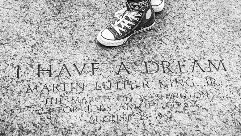 Photo of Martin Luther King Jr. monument
