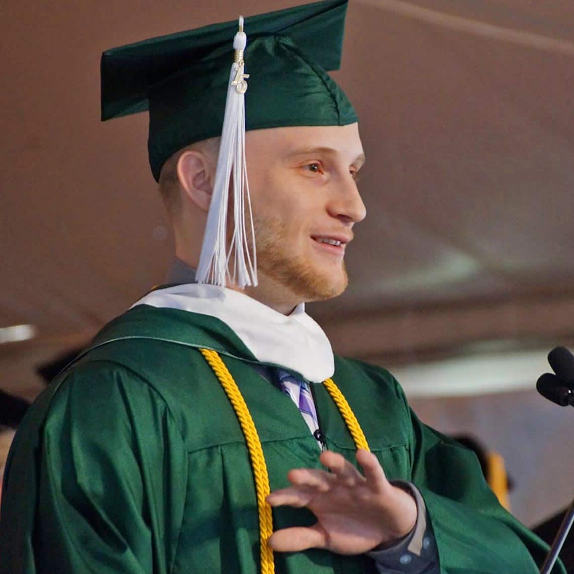 Michael graduated Valedictorian in 2015 with a BA in Political Science & later landed a job at Emory and Henry College