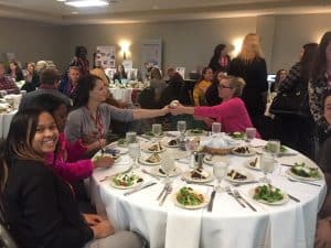 NCCEClunch 300x225 - WPU Education Students Participate in North Carolina Council for Exceptional Children Annual Conference