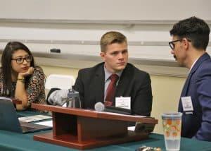 WPU Pre Law students participate in a debate