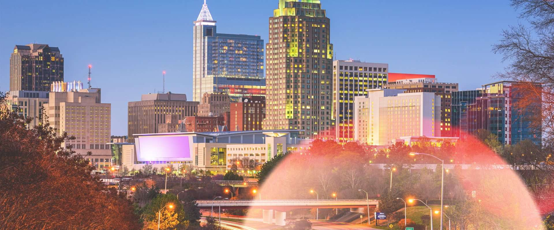 A photo of Downtown Raleigh.