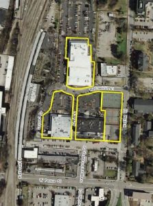 WPU is selling the three highlighted parcels of Seaboard Station