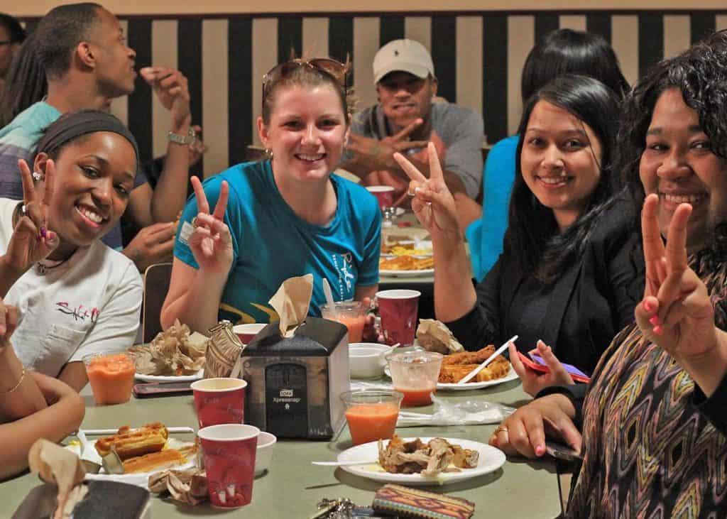 Students Enjoying Belk Dining Hall