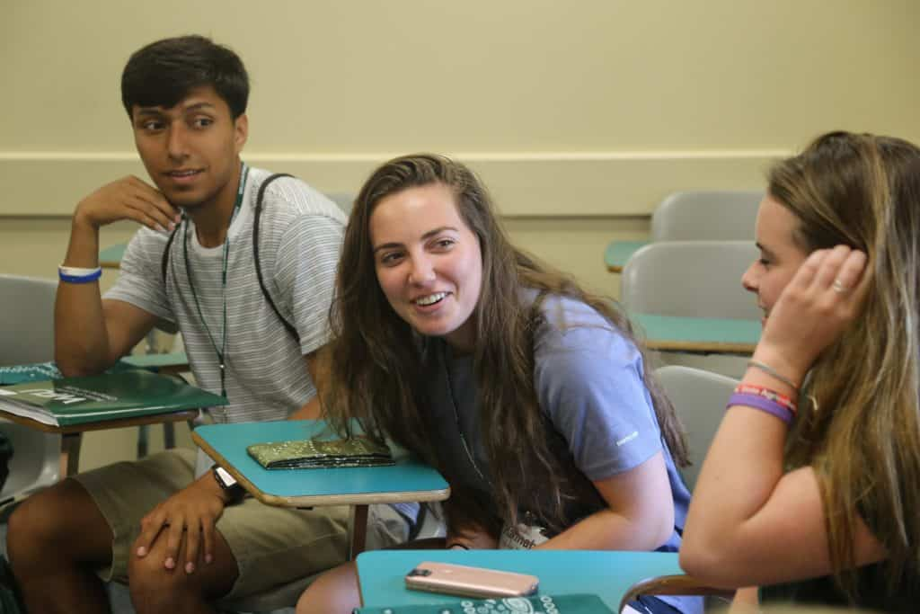 WPU Students engaging with one another