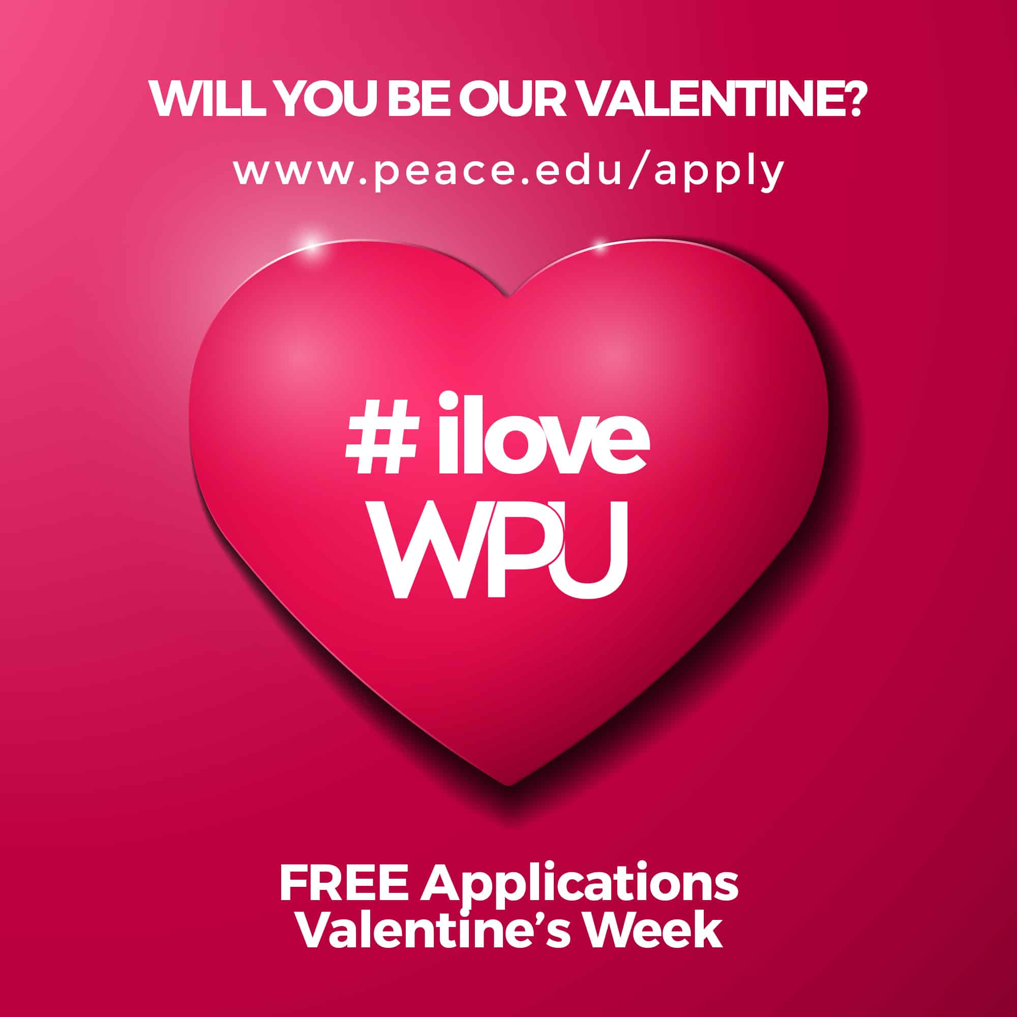 Valentines Day Purple Heart With Shadow William Peace University