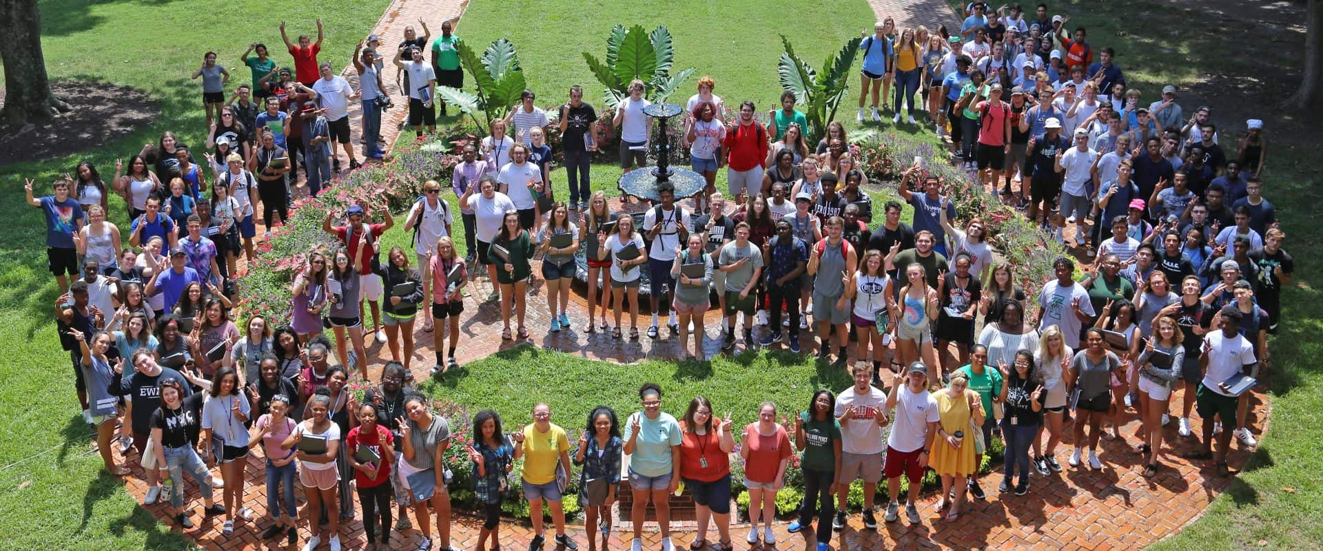 The Class of 2017 poses for a group photo