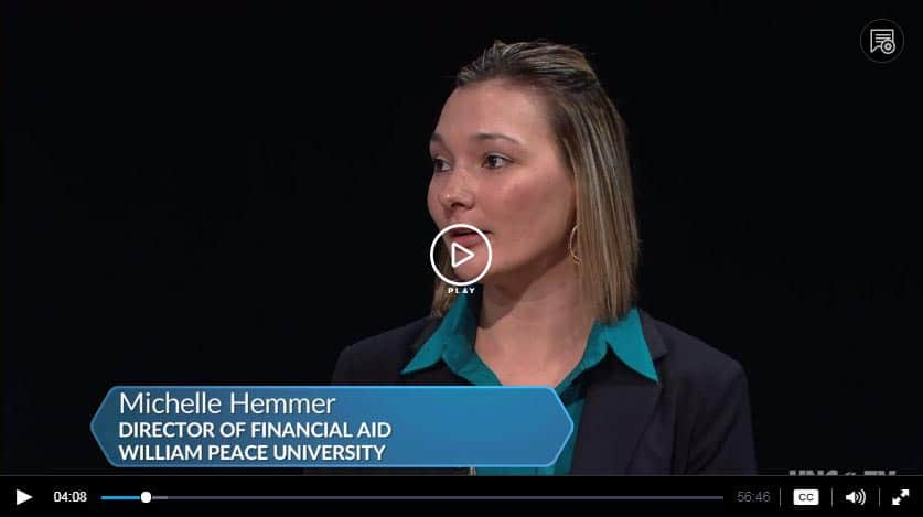 hemmer thumbnail play - #PeopleOfPeace: Director of Financial Aid, Michelle Hemmer, Featured on UNC-TV