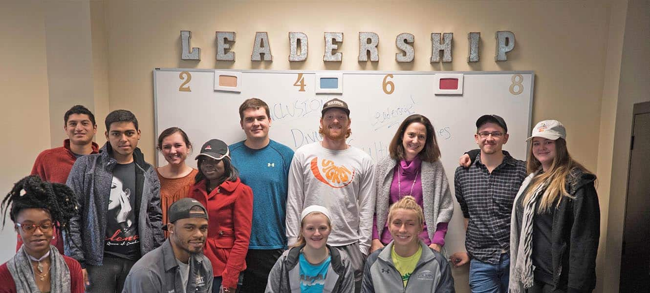 Leadership students pose for a picture