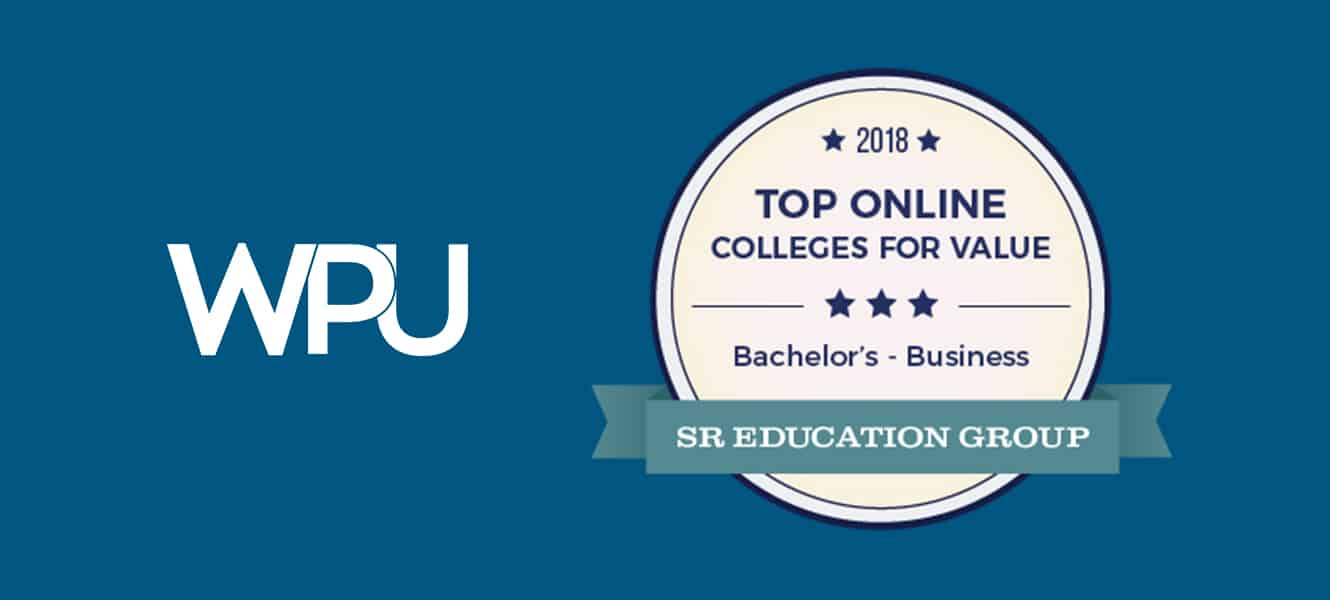"The School of Professional Studies at WPU has been named a ""2018 Top Online College Offering Business Degrees"""