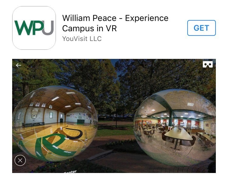 Image of WPU Virtual reality application.