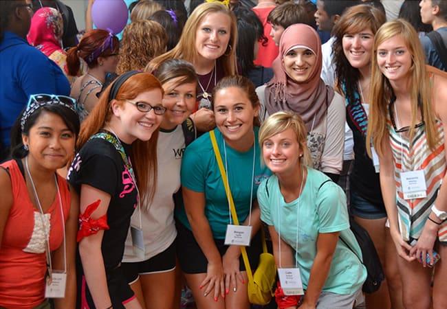 WPU Students at Orientation